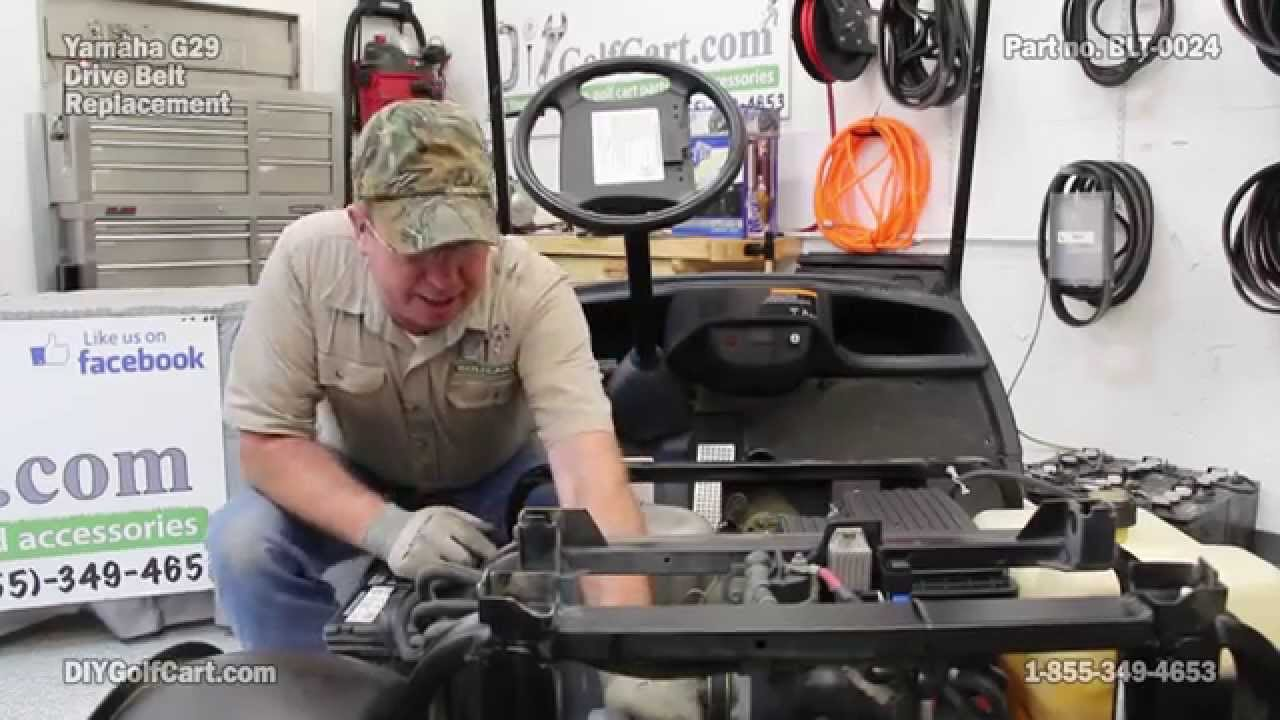 yamaha drive belt how to install on g29 golf cart youtube