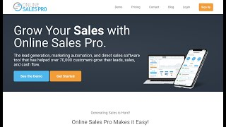What is Online Sales Pro?  A COMPANY that DOES NOT Pay YOU.  Run.  OnlineSalesPro.com