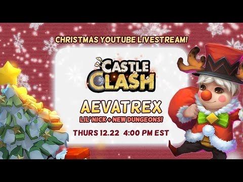 Castle Clash: Lil' Nick Gameplay Livestream + Secret Code!
