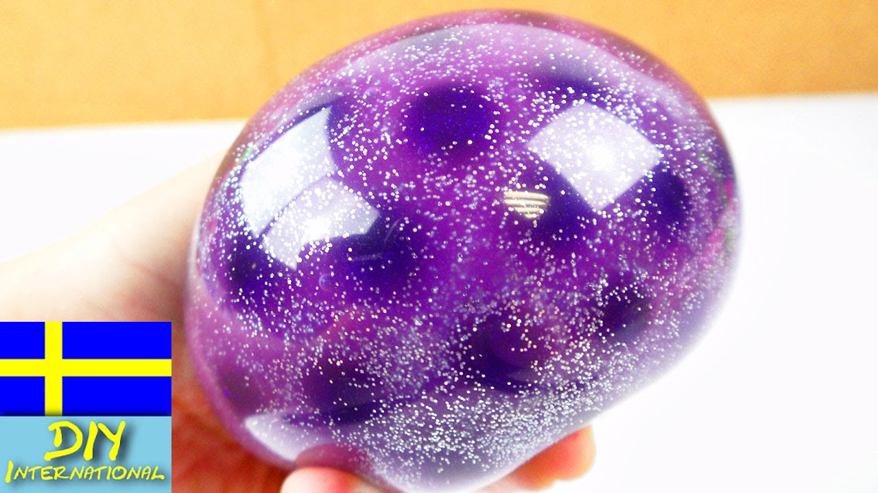 antistressboll med orbeez slime och glitter galaxy. Black Bedroom Furniture Sets. Home Design Ideas