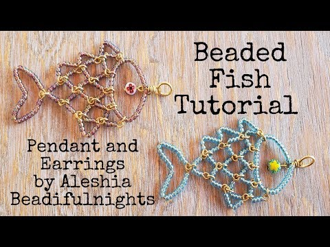 Beaded Fish Pendant And Earrings Tutorial