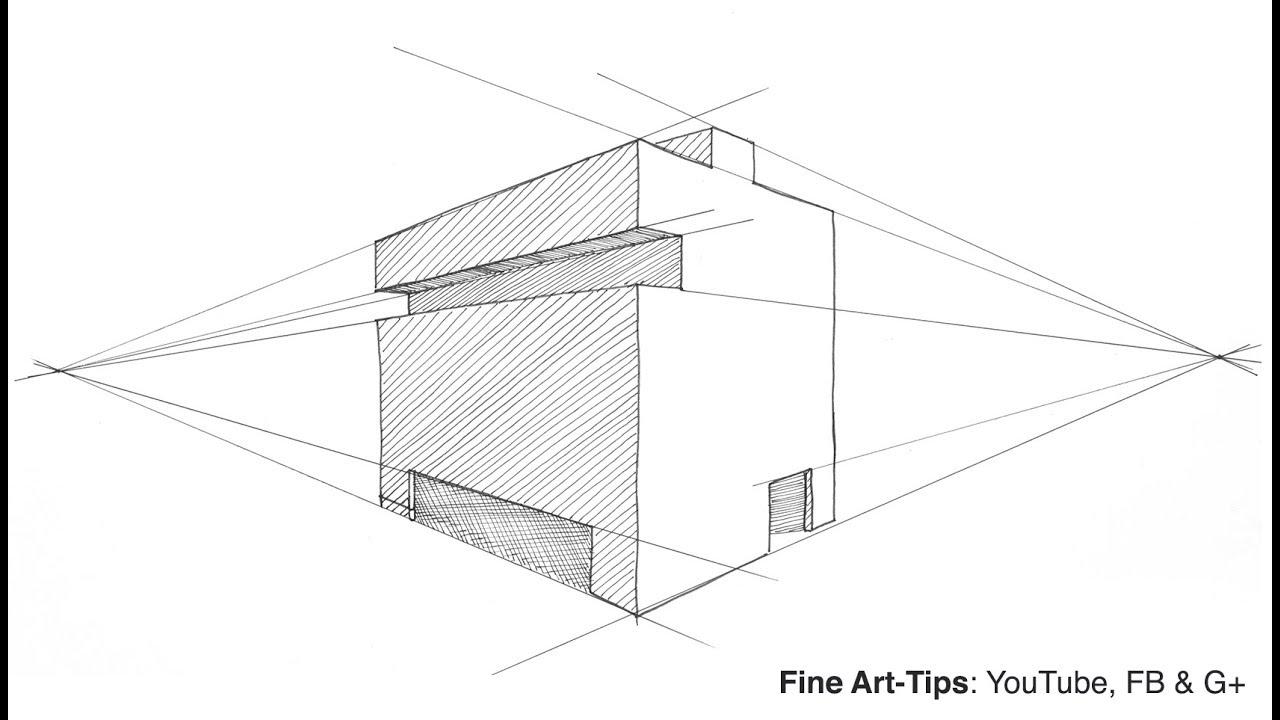 2-Point Perspective for Artists - Very Simple and Easy ...
