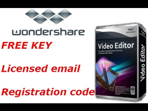 wondershare video editor registration code and email free