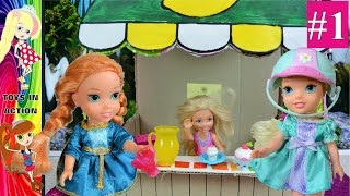chelsea lemonade stand 1🍋anna and elsa toddlers💖disney princesses✨❄barbie💋toys and dolls