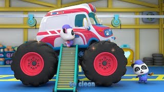 Ambulance Monster Car Gets Dirty | Nursery Rhymes | Baby Songs | Toddler Songs | BabyBus