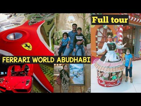 Ferrari world Abudhai| world'sfastestRollercoaster | fulltourpart-1 | 4k | Yasmall @Ramya Creation