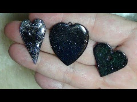 "Easy ""Enamel"" Hearts - using automotive powder coating!"