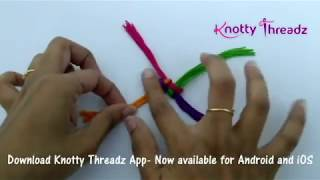 Saree Kuchu | How to make Baby Kuchu Design with 4 colours | Macrame Tassels | www.knottythreadz.com