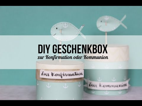 tutorial runde geschenkschachtel geschenk zur konfirmation oder kommunion youtube. Black Bedroom Furniture Sets. Home Design Ideas
