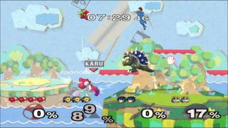 SSBM [TAS] - Perfect Yoshi vs. 3 Lvl.9 CPUs