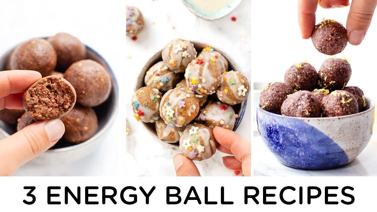 3 *MORE* ENERGY BALL RECIPES ‣‣ easy & no-bake snacks