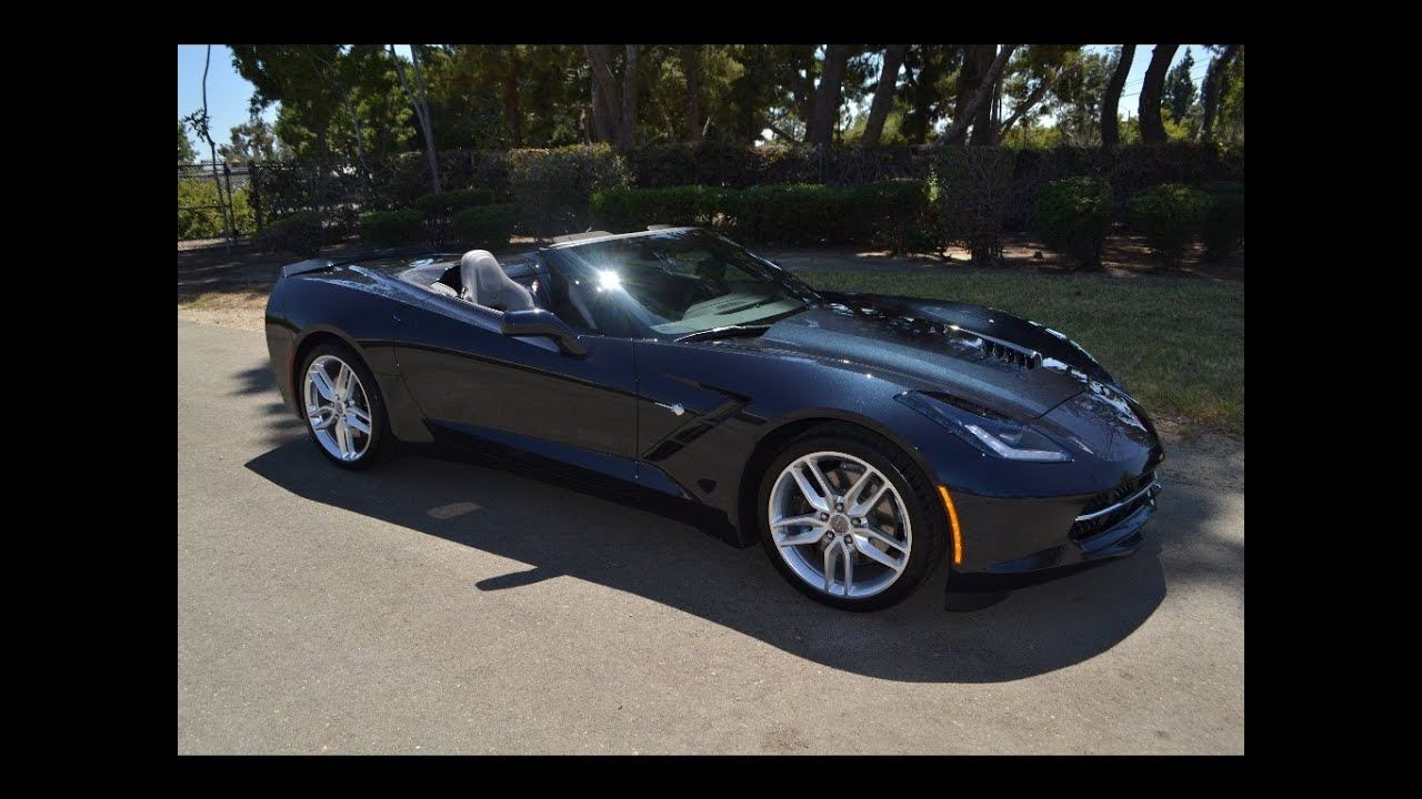 sold 2014 chevrolet corvette z 51 convertible night race blue for sale by corvette mike anaheim youtube - 2015 Corvette Stingray Convertible Blue