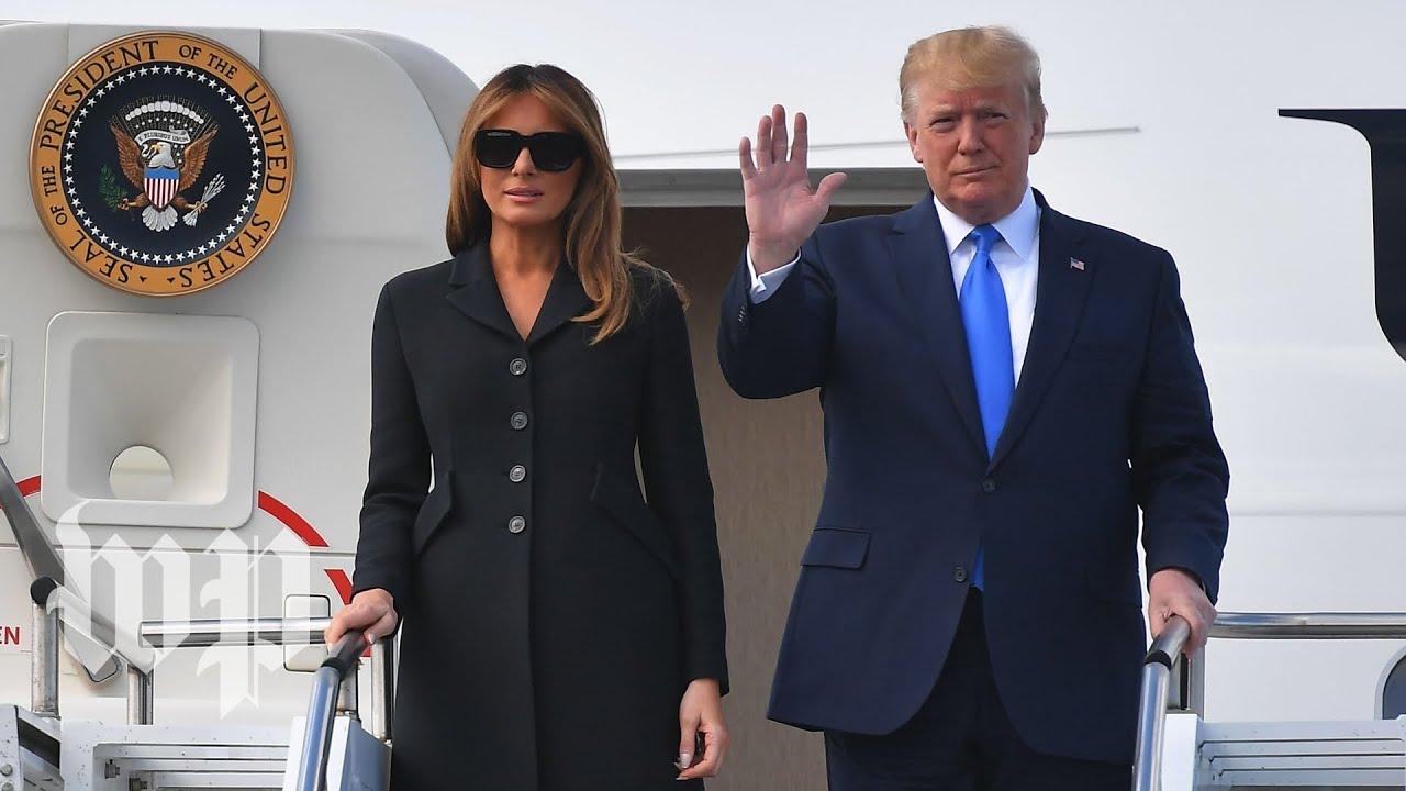 Trump arrives at D-Day commemoration in Colleville-sur-Mer