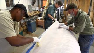 How To Properly Lay-out And Resin Dynel For Your Boat