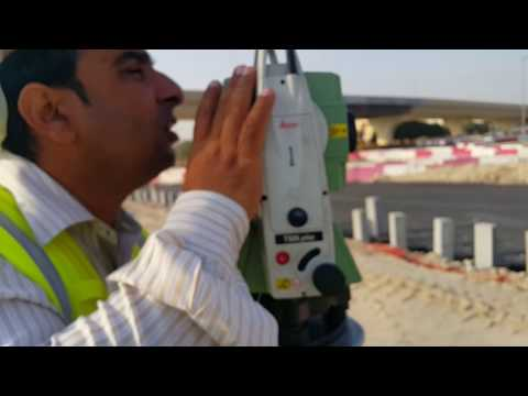 How to do Survey with Leica Total Station TS 06 Plus in Urdu