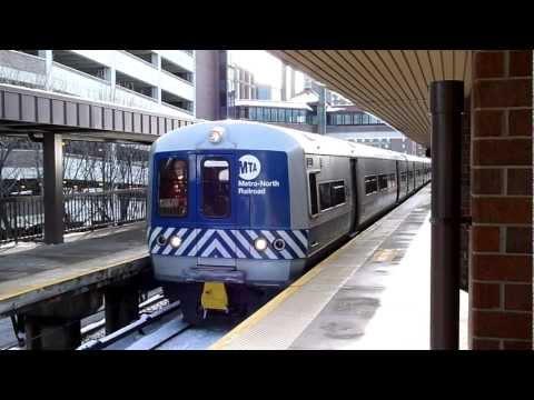 MTA Metro-North Railroad Budd M3A #8134 Harlem Line departing White Plains