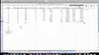 How to calculate a regression equation, R Square, Using Excel Statistics