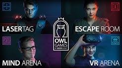 Paderborn: OWL-GAMES | Escape Room, LaserTag, Virtual Reality, Mind Games, Kletterpark