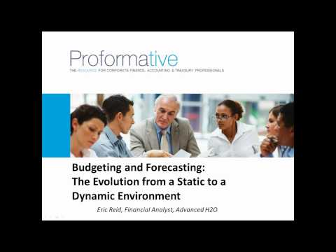 Financial Planning, Budgeting and Forecasting Webinar