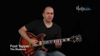 Foot Tapper by The Shadows guitar riff teaching and demonstration by Peter Howlett