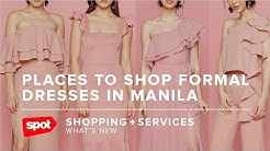 Places to Shop Formal Dresses in Manila