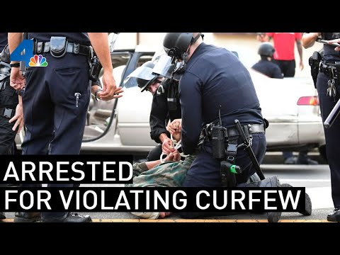 Group Of People Arrested In Hollywood For Curfew Violations  | NBCLA