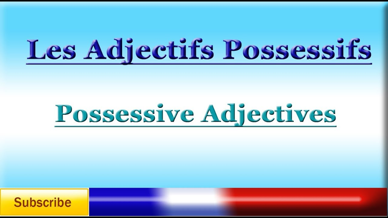 Possessive adjectives in French – Les adjectifs possessifs