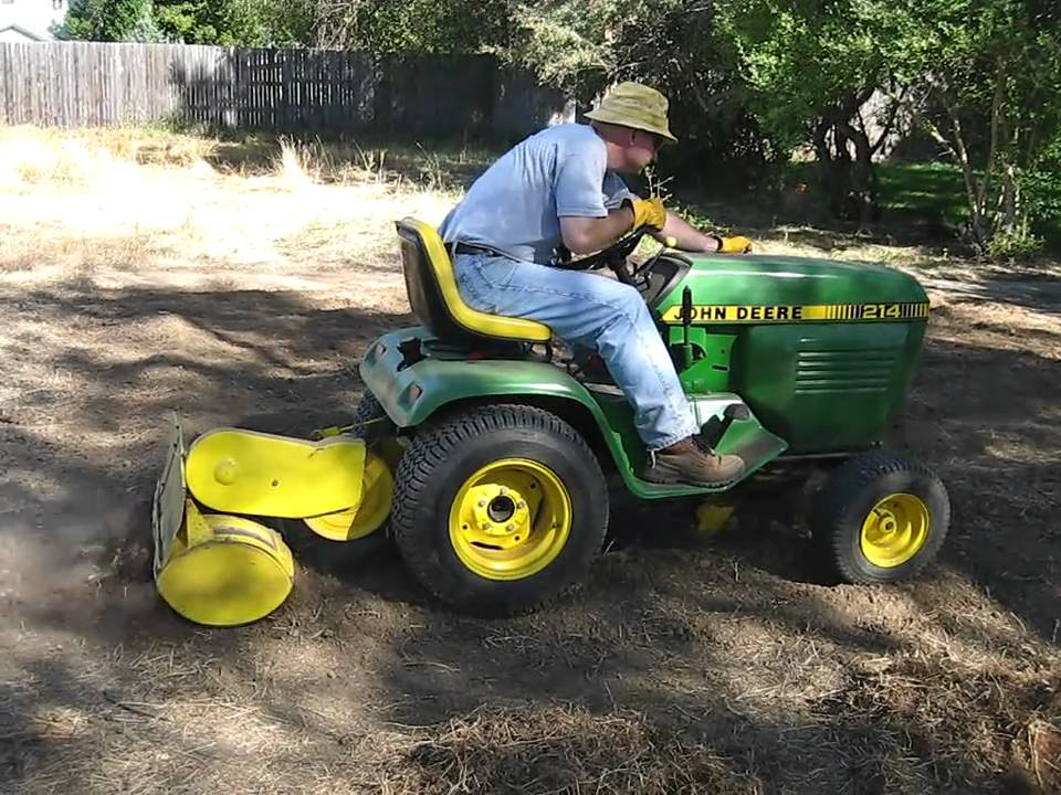 John Deere 214 with Model 31 Tiller YouTube