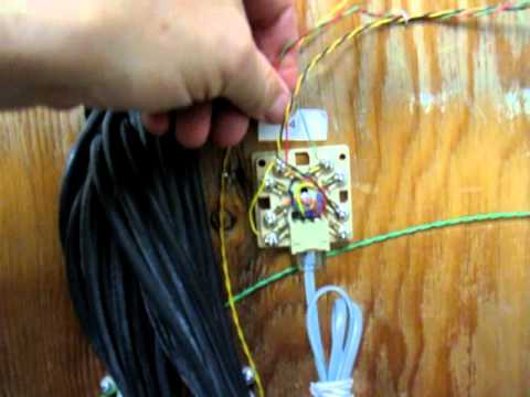 Telephone Jack Wiring Telephone Wiring Series Youtube