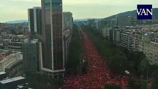 [DIADA 2018] Time-lapse de la manifestación en la Diagonal de Barcelona