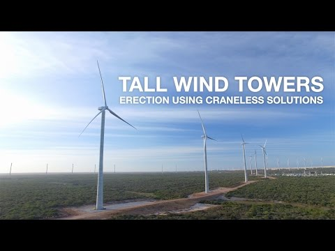 Eolift® by Freyssinet - Major innovation in wind tower erection