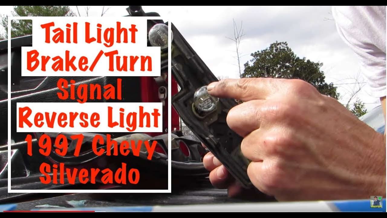 tail light, brake/turn-signal light & reverse light 1997 chevy silverado