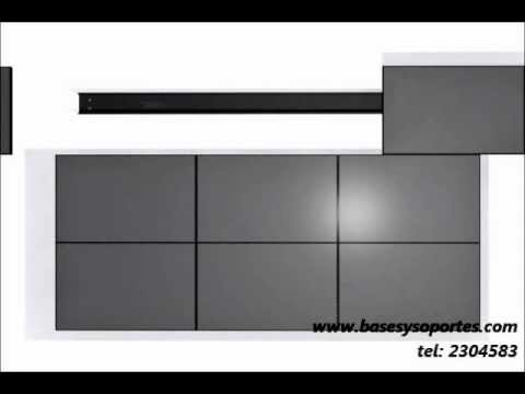 Base soporte de pared para video wall varias pantallas y - Posters gigantes para pared ...