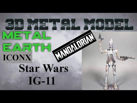 Metal Earth ICONX/Premium Series Build - Star Wars The Mandalorian - IG-11