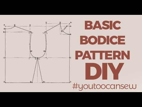 How To Draft A Basic Bodice Pattern Youtube