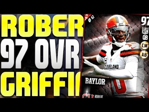 """""""NEW 97 OVERALL ROBERT GRIFFIN III"""" SUPER FAST AND ELUSIVE QUARTERBACK WITH GOOD THROWING STATS!"""
