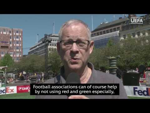 Color blind awareness at Europa League final