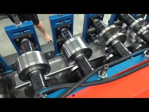machine testing of C channel roll forming machine
