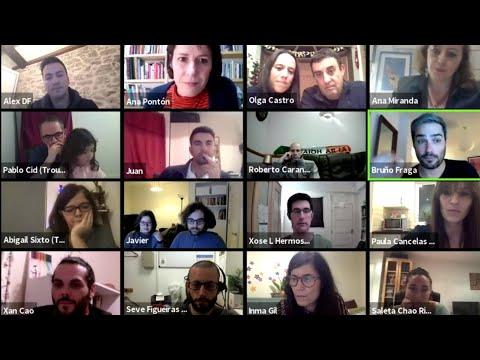 Encontro virtual de Ana Pontón e Ana Miranda coa emigración galega en Gran Bretaña e Irlanda.