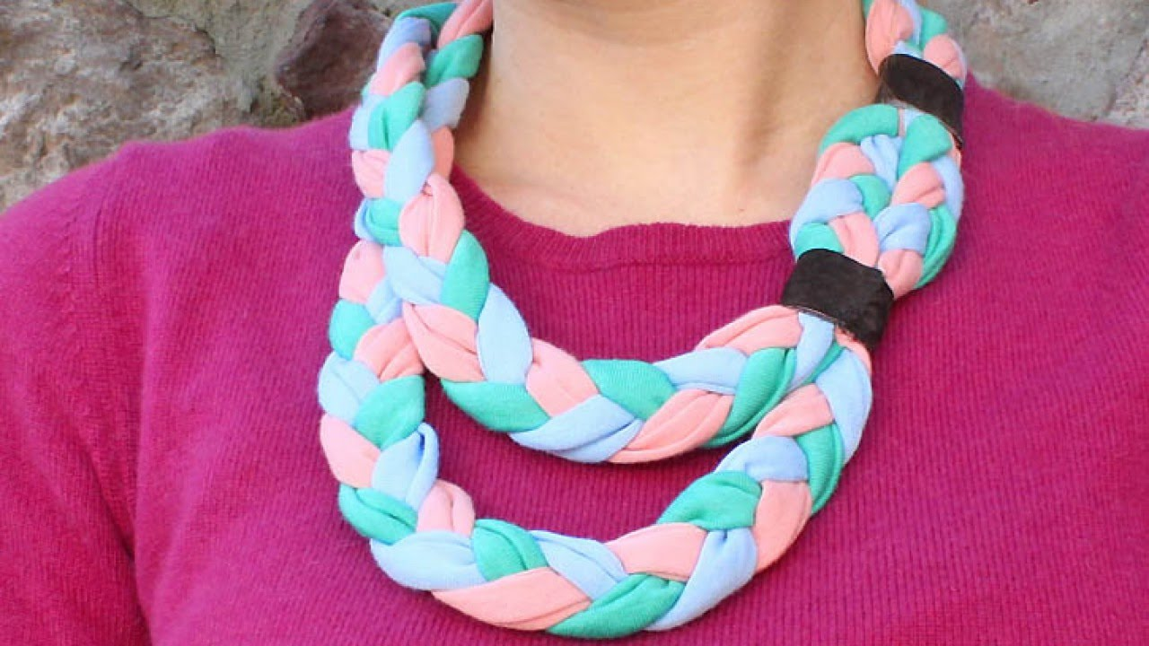 Create a Braided Fabric Statement Necklace