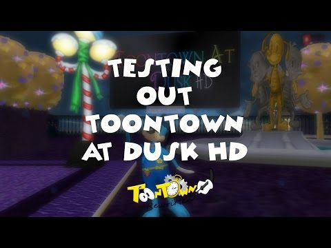 Testing Toontown At Dusk HD Content Pack on Toontown Rewritten