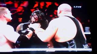 Roman reigns Wins 2015 Royal rumble And Rock returns!