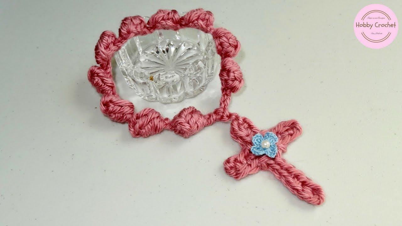 Decenario artesanal a crochet en punto popcorn, paso a paso - YouTube