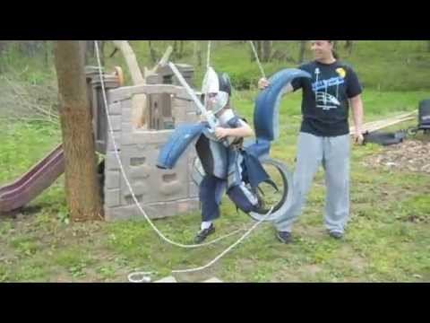 How to Make a Dragon Tire Swing