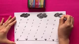 HD TH: Vẽ hạt mưa -Gv Phan Thị Học- Trường mầm Non An Hà