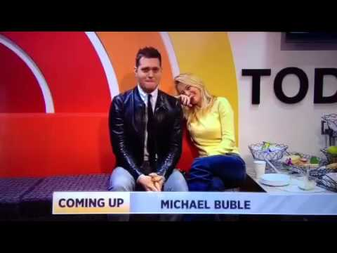 Michael buble making out with his wife on live tv!!