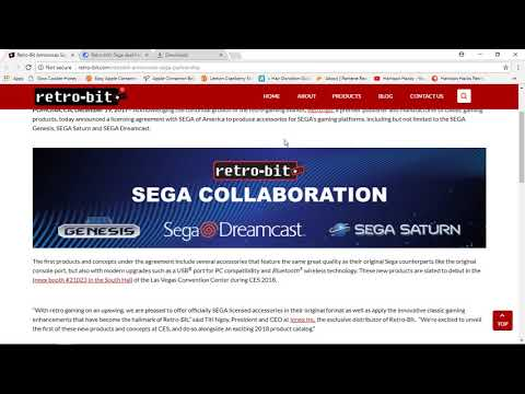 Awesome News!: Sega Partners with Retro-Bit for Bluetooth & Usb