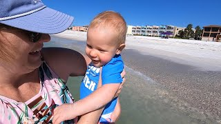 We Went To Our Favorite Florida Beach! | House Tour, Baby's First Time In The Ocean & More Fun!