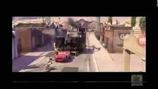 Cars in backwards-scene 1