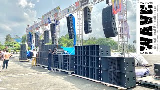 Outdoor Line Array Testing In Pro Wave Expo 2019